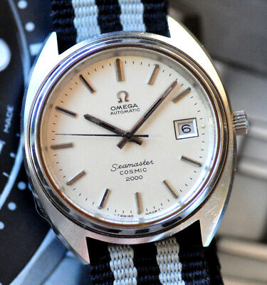 Vintage Omega Seamaster Cosmic 2000 Watch Silver Dial Runs Looks