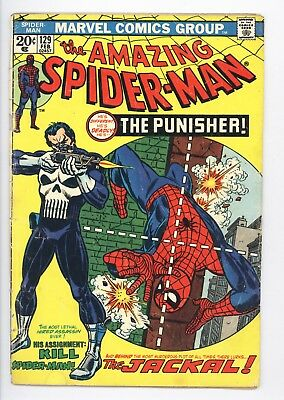 Amazing Spider-Man #129 Vol 1 Very Nice Mid Grade 1st Appearance of the Punisher