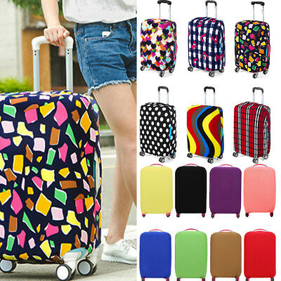 Travel Luggage Cover Protector Elastic Suitcase Dust-Proof Pure Color / Pattern