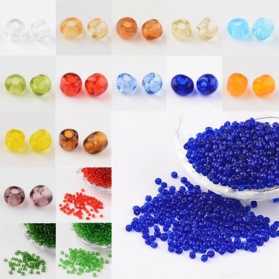 40g Opaque Black Round Hole Round 6//0 Glass Seed Beads