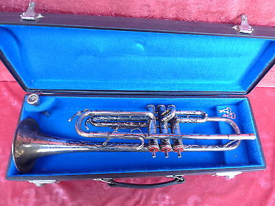 Old Trumpet POPKEN __ with case and Mouth Piece _