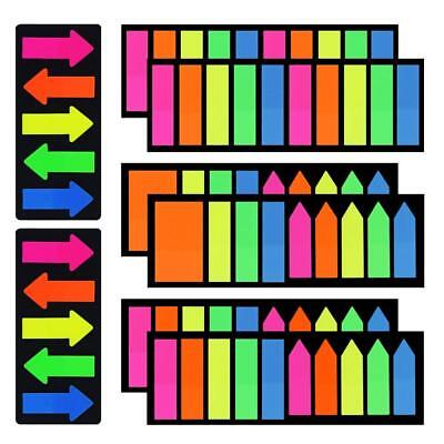 COCESA 8 Sets Fluorescent Neon Page Marker Index Tab Label Flag Sticky Stickers