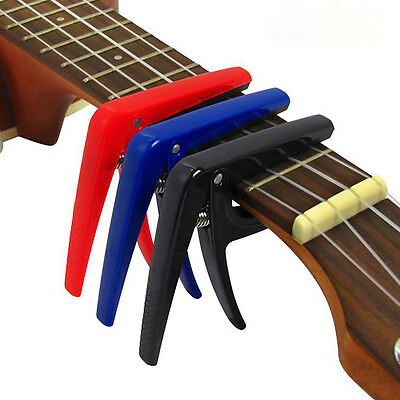 Pro Quick Change Tune Clamp Key Trigger Capo For Acoustic Electric Ukulele#