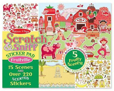 Melissa & Doug SCRATCH & SNIFF STICKER PAD - FRUITVILLE Creative Toys - NEW