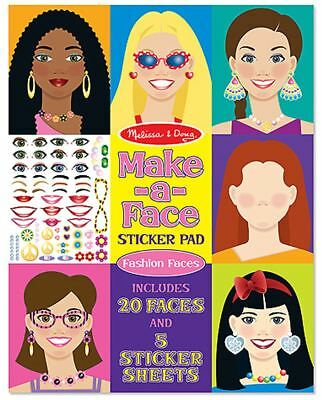 Melissa & Doug MAKE-A-FACE STICKER PAD Creative Toys Activities Games - NEW