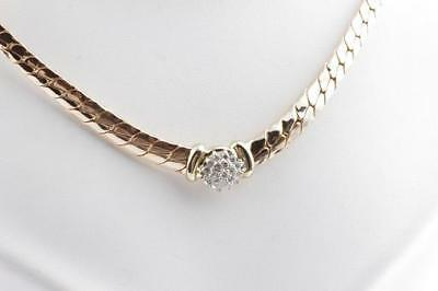 Brillant Diamant Collier Kette in aus 585 er Gelbgold mit Brillianten Brillanten