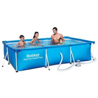 Bestway 56411 Frame Pool Deluxe Splash Steel Pro Set + Filterpumpe 300x201x66cm
