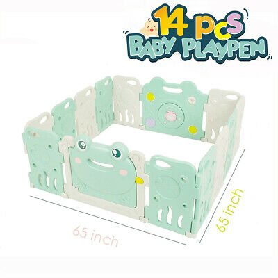Larger Baby Safety Playpen Play Yards Baby Fence Kids Activity Center 8 Panels