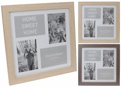4 Aperture Home Sweet Home Wooden Multi Photo Picture Frame