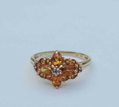 Jewelry & Watches Genuine Yellow Citrine Birth Gemstone Sterling Silver Oval Ring Size Us 8-eb1202 Fine Rings