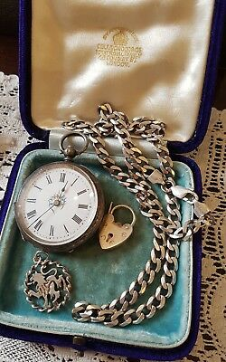 Job Lot Vintage / Antique Sterling Silver Jewellery & pocket watch