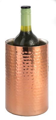 Epicurean Straight Sided Wine Cooler Chiller Hammered Copper Finish Double Wall