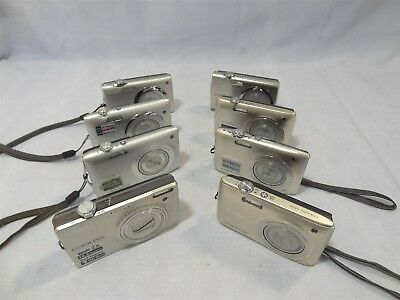 Lot 8 Silver Nikon Coolpix Point&Shoot Digital Cameras **Untested/Parts/Repair