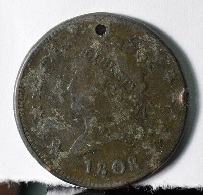 1808 Classic Head One Cent - Small Hole