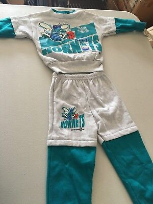 buy popular af63a bd09a VINTAGE 1993 CHARLOTTE Hornets Youth Sweatsuit Hoodie Pants ...