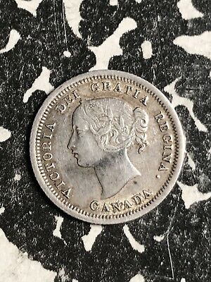 1858 Canada 5 Cents Lot#X6757 Silver! Nice!