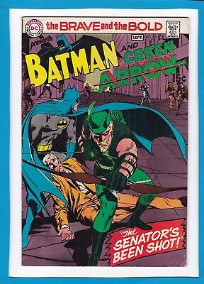 Brave & The Bold #85_Sep 1969_Vf Minus_Batman_Green Arrow New Costume_Neal Adams