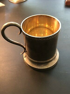 1857 Sterling Silver Cup by Bailey & Co #SP037 'Won Oct. 1 1857 by Yacht Madgie'