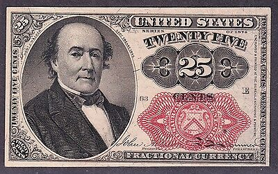 US 25c Fractional Currency Note 5th Issue FR 1309 Ch CU Pos 63 E