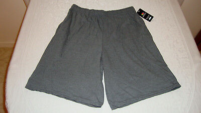 Unisex Fruit of the Loom Jersey Shorts Dark Charcoal Heather Sz. M NEW With Tags