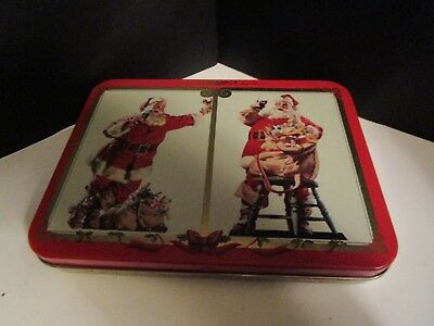 1994 Coca Cola SANTA CLAUS Playing Cards 2 Decks Tin NEW+Always Your Friend Book