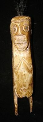 Ex Rare!   Headhunter Bone Statue    Asmat People  Wow!