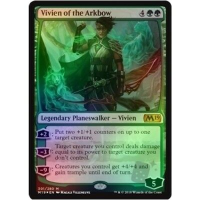 *FOIL* VIVIEN OF THE ARKBOW NM mtg Core 2019 M19 Green - Planeswalker Mythic