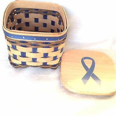 2016 Horizon of Hope® Basket & Lid BLUE AUTISM Longaberger New in Hand