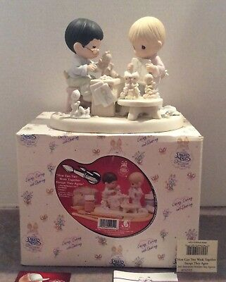 Precious Moments How Can Two Work Together - 20th Anniversary LE Art Studio MIB