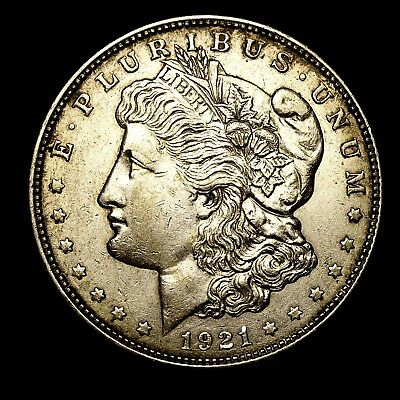 1921 D ~**ABOUT UNCIRCULATED AU**~ Silver Morgan Dollar Rare US Old Coin! #880
