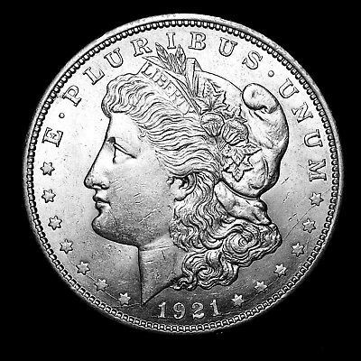 1921 D ~**ABOUT UNCIRCULATED AU**~ Silver Morgan Dollar Rare US Old Coin! #782