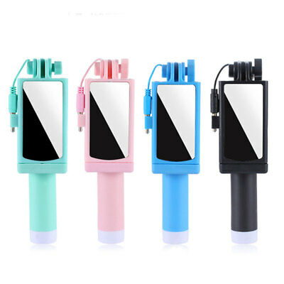 Adjustable Telescopic Wired Selfie Stick Shutter for Mobile Phone Pocket Size