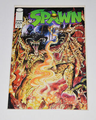 SPAWN Rare Image Fan Edition #3 Signed by TODD McFARLANE Autographed GOLD INK