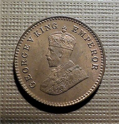 India, British - 1935 Calcutta - 1/12 Anna, Bronze - King George V, Km#509 Hms