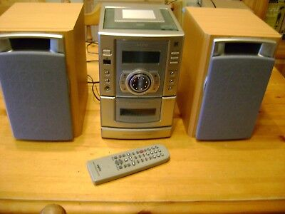sanyo dc-da 350 audio system (needs attention)
