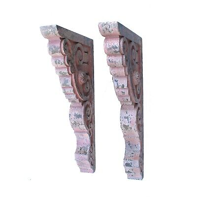 Corbels and Brackets Pair Antique Style Big Old House Parts - The Kings Bay