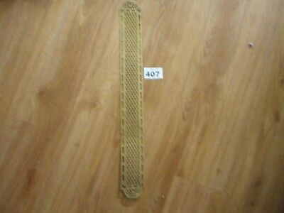 Unusual Vintage Brass Fretwork Panel Clock Part