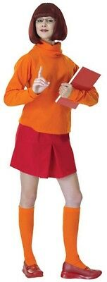Ladies Official Velma Scooby Doo Cartoon Film Fancy Dress Costume Outfit UK 8-12