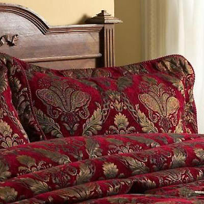 Paoletti Shiraz Pillow Sham, Burgundy, 50 x 75 Cm