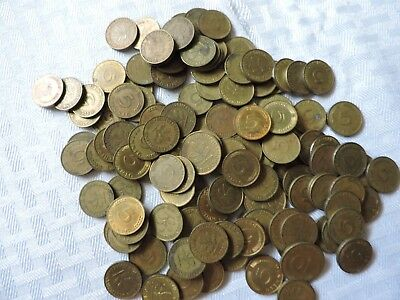 5 Pfenning German - Lot Of 120 +++ Coins