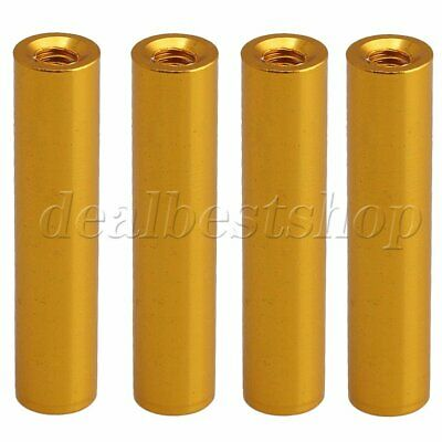 4x Standoff Aluminum Column Spacer for RC1:10 Model Car Yellow 6x27mm
