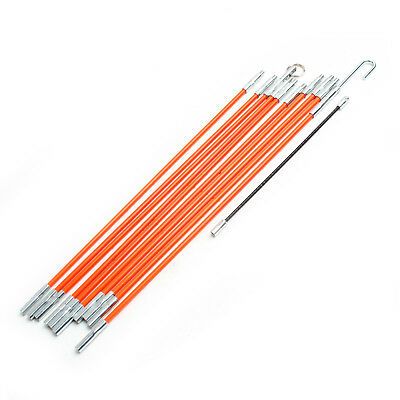 10Pcs Φ 4mm Cable Access Kit Electricians Puller Rods Wire Fish Tape Cable 580mm