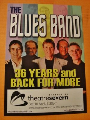 The Blues Band - A5 Flyer - 36 Years And Back For More Tour 2016 - Shrewsbury