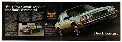 1985 BUICK Century Vintage Original centerfold Print AD Sedan & Wagon photo CA