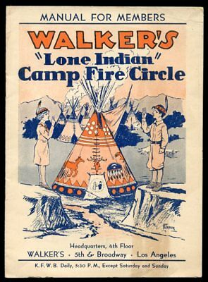 """1932 booklet Walker department store """"Lone Indian"""" daily radio show Los Angeles"""