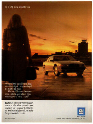 1990 BUICK Regal Gran Sport Vintage Original Print AD Sunligh airport photo EN