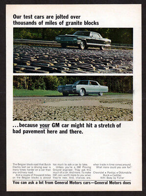 1966 BUICK Electra Vintage Original Print AD - Block road test car photo GM EN