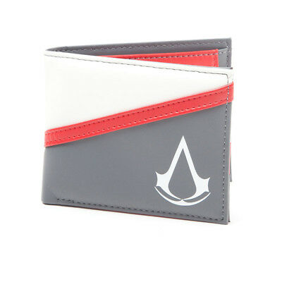 NEW! Assassin's Creed Debossed Crest Bi-Fold Wallet One Size Multi-Colour MW2503
