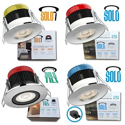 7w / 10w SOLO All in 1 IP65 Dimmable LED Downlight 3 Colours 3 Bezels Fire Rated