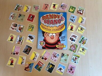 Dandy & Beano Celebration Sticker Album - Panini 1988 - with loose stickers